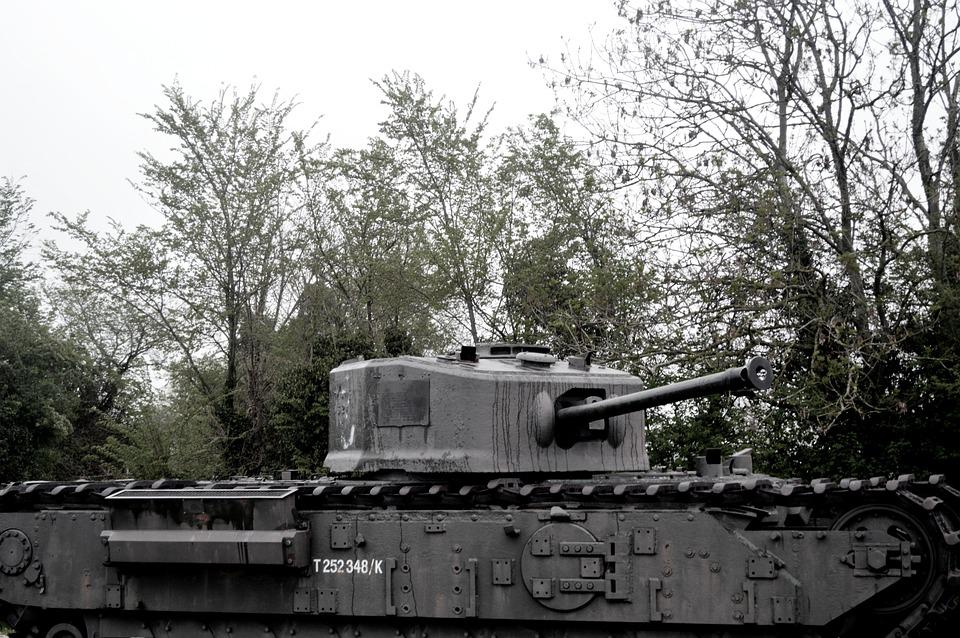 Char, Tank, Old, Second World War, Battle, Former