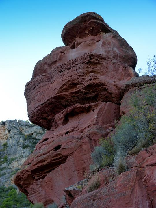 Red Rock, Sandstone, Erosion, Forms, Texture, Stone
