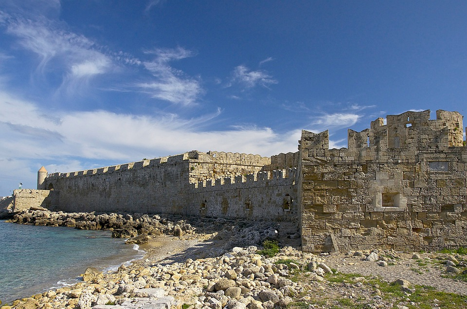 Greece, Fortifications, Fort, Fortress, Sea, Ocean