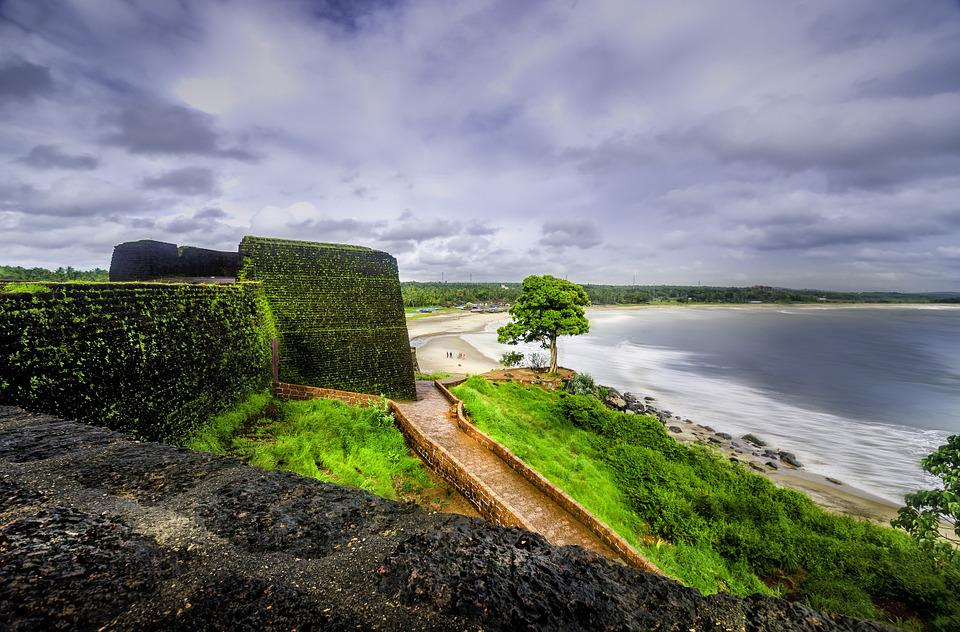 Bekal, Fort, Kerala, Sea, Ocean, Walkway, Fishing, Sky