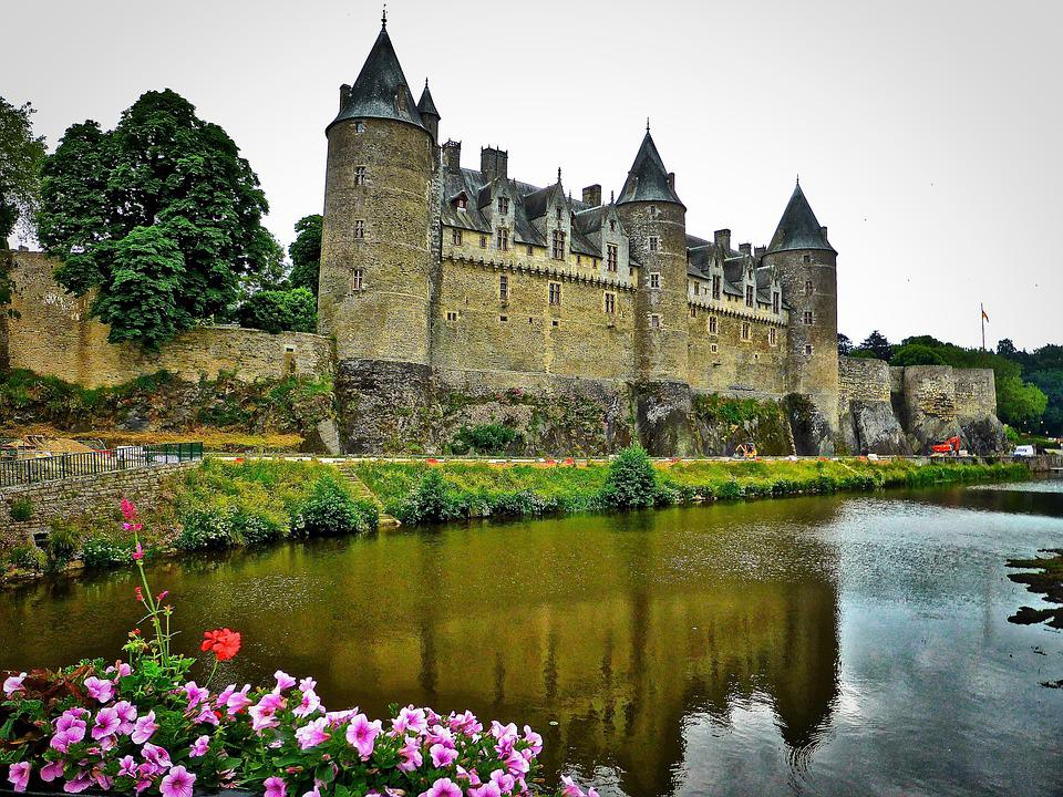 Chateau, Gosselin, Brittany, Turrets, Fortification