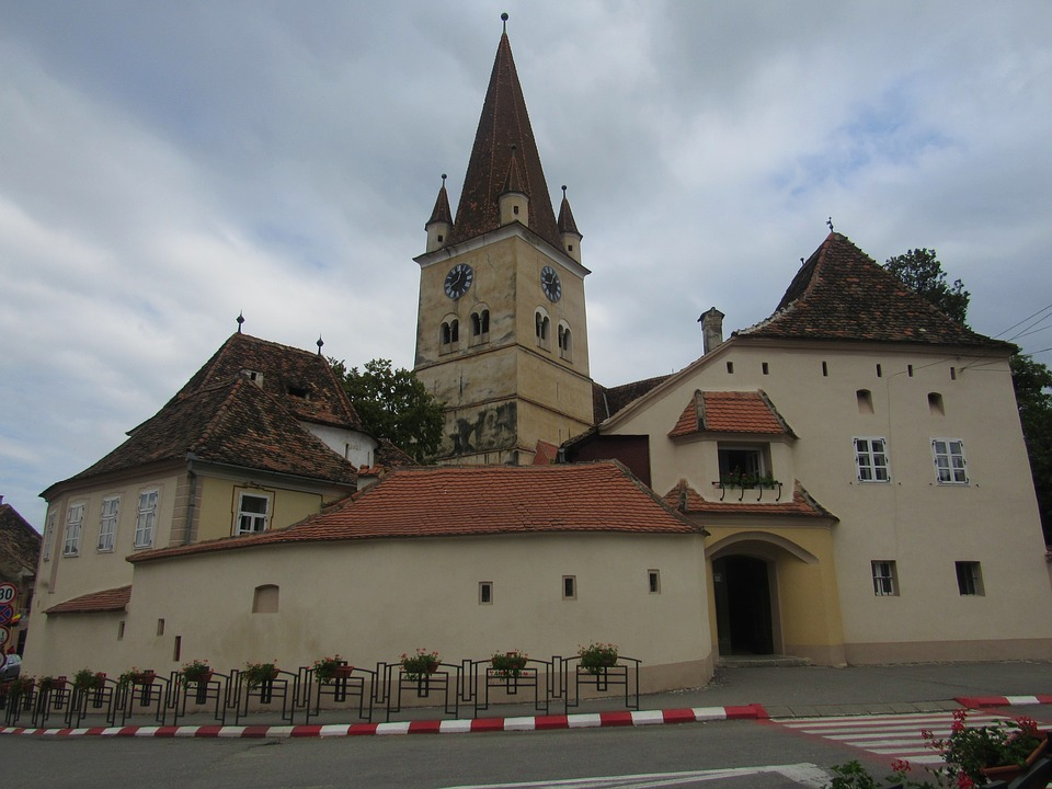 Cisnadie, Transylvania, Fortified Church, Tower