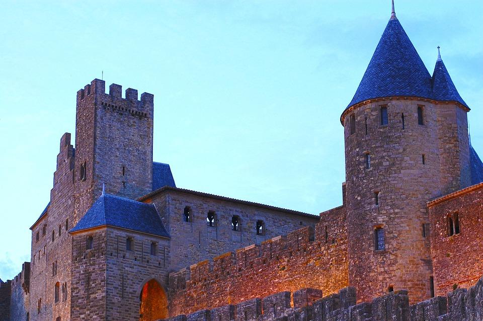 France, Carcassonne, Medieval, Fortress, Castle, Torres