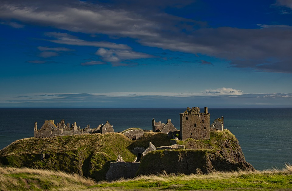 Castle, Ruin, Island, Scotland, Architecture, Fortress