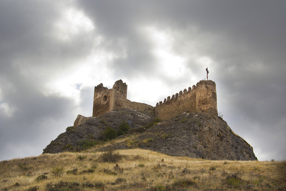 Spain, Landscape, Scenic, Castle, Fortress, Cathedral