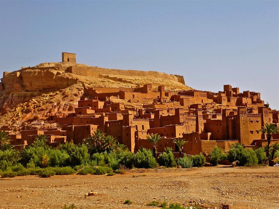 Morocco, Fortress, Adobe, Castle