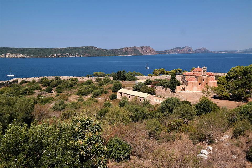 Castle, Fortress, Places Of Interest, Greece, Pylos