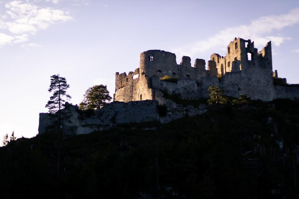 Castle, Ruins, Fortress, Medieval, Ehrenberg, Reutte