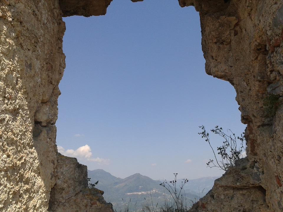 View, Castle, Ruin, Fortress, Mountain, Middle Ages