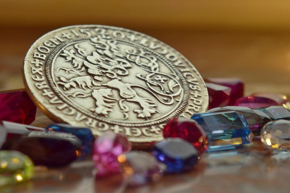 Coins, Stones, Gems, Stone, Money, Fortune