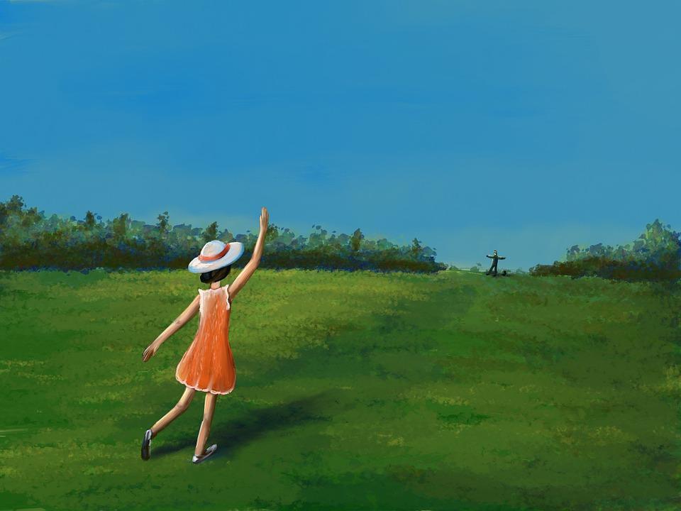 Meeting, Girl, Waiting, Longing, Rush, Forward, Dress