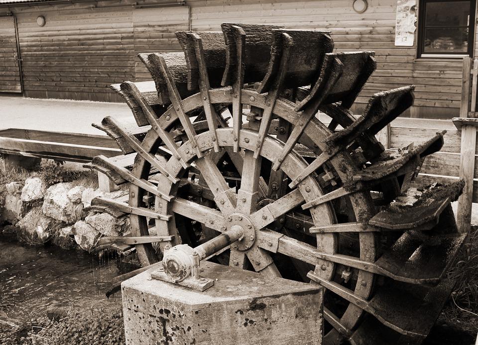 Mill Wheel, Waterwheel, Water, Energy, Fountain, Turn