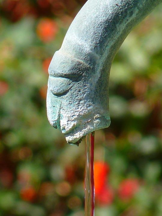 Water Feature, Fountain, Fig, Gargoyle, Water, Flow