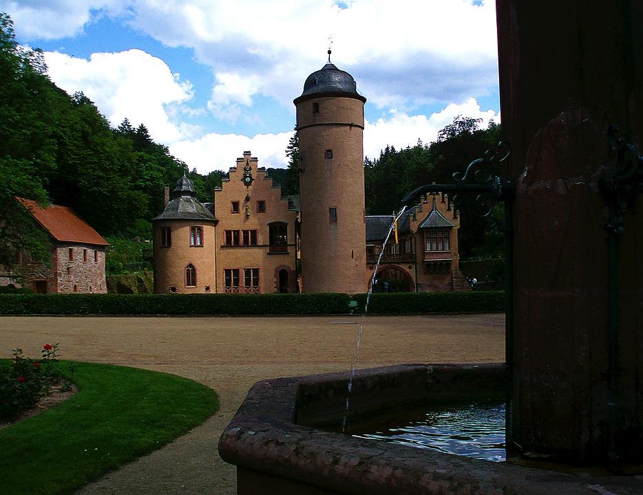 Castle, Fountain, Mespelbrunn