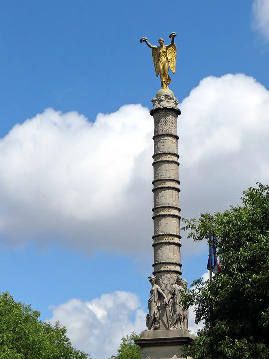 Paris, Châtelet, Column, Fountain Of The Palm Tree