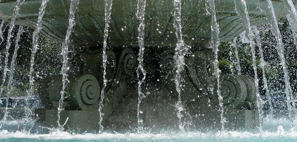 Water, Falling Water, Fountain, Water Fountain, Outside