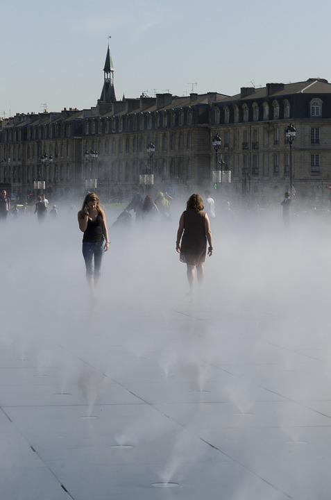 Bordeaux, Place De La Bourse, Fountain