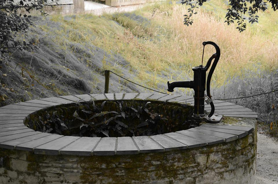 Pump, Fountain, Rude, Hand Pump, Water, Garden Pump