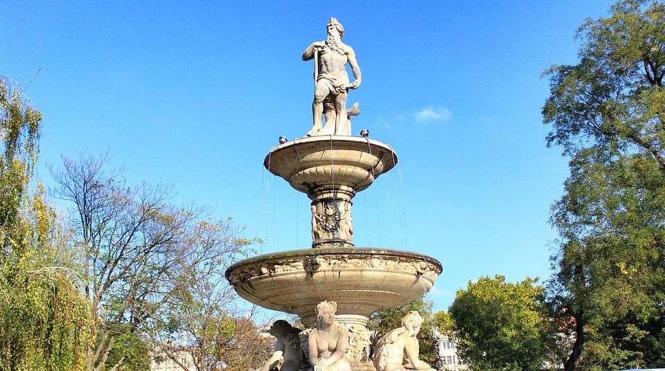 Statue, Well, Fountain, Sculpture, Architecture, Stone