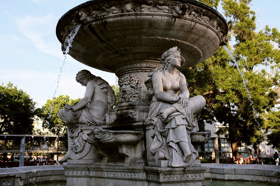 Fountain, Stream, Wet, Budapest