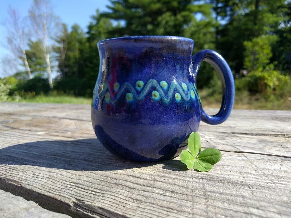 Clover, Lucky, Four Leaf, Summer, Coffee, Mug