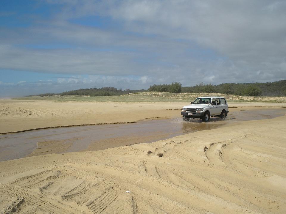 Four X Four, Four Wheel Drive, Fraser Island, Australia