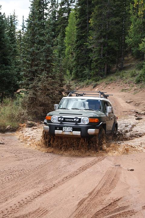 Four Wheeling, Fj Cruiser, Mud Running