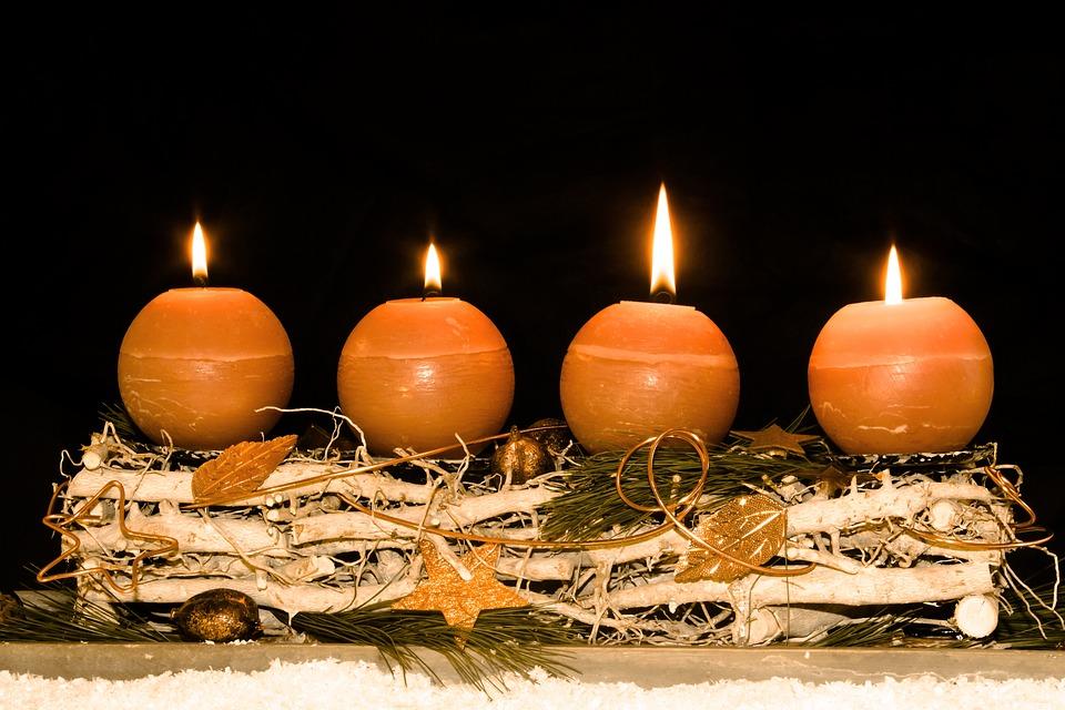 Advent Wreath, Advent, Fourth Advent, Christmas Time