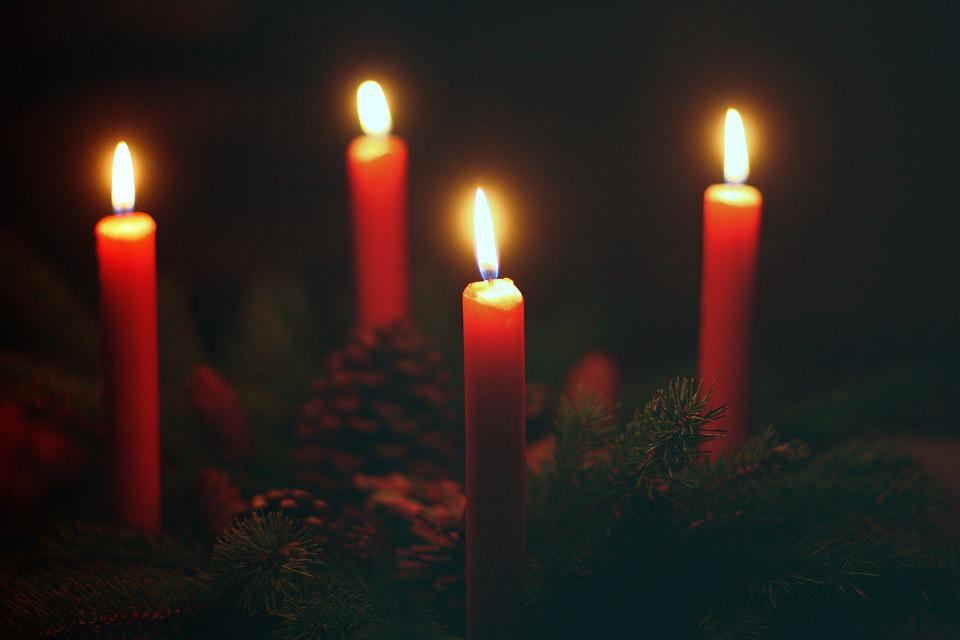 Advent Wreath, Fourth Advent, Candles, Fourth Candle