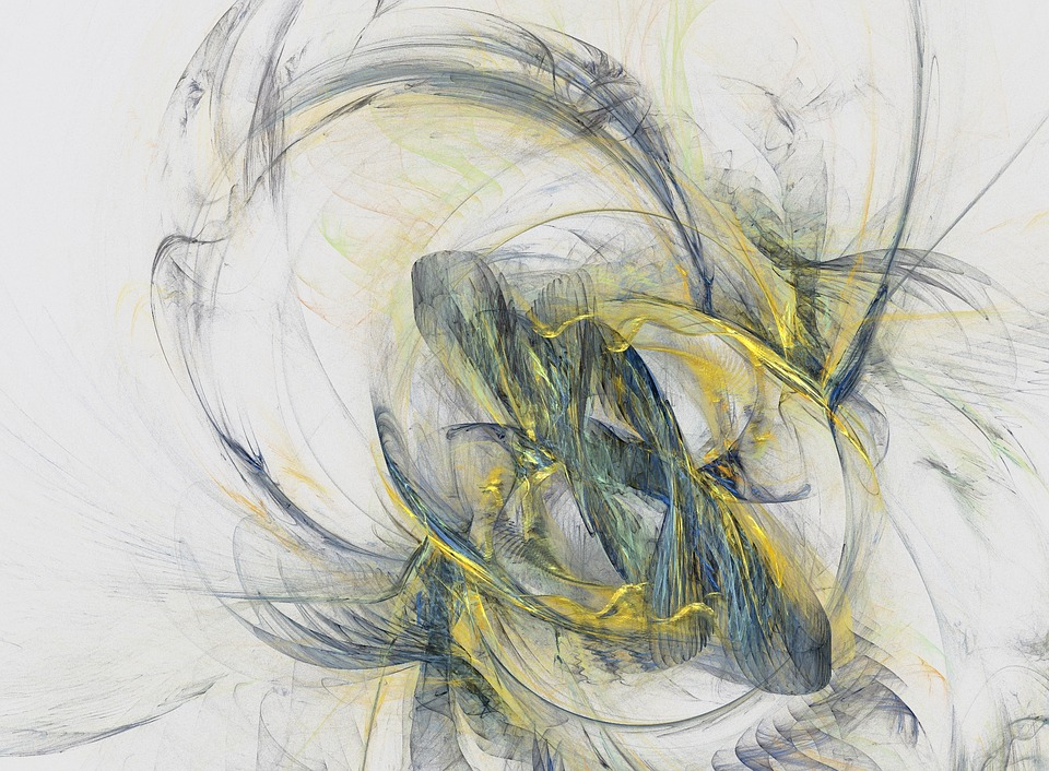 Abstract, Fractal, Apophysis, Yellow, Graphic Design