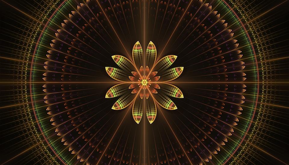Fractal, Floral, Mandala, Abstract, Pattern