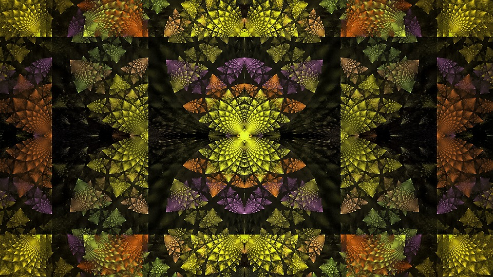 Fractal, Multi-color, Geometry, Decorative, Texture