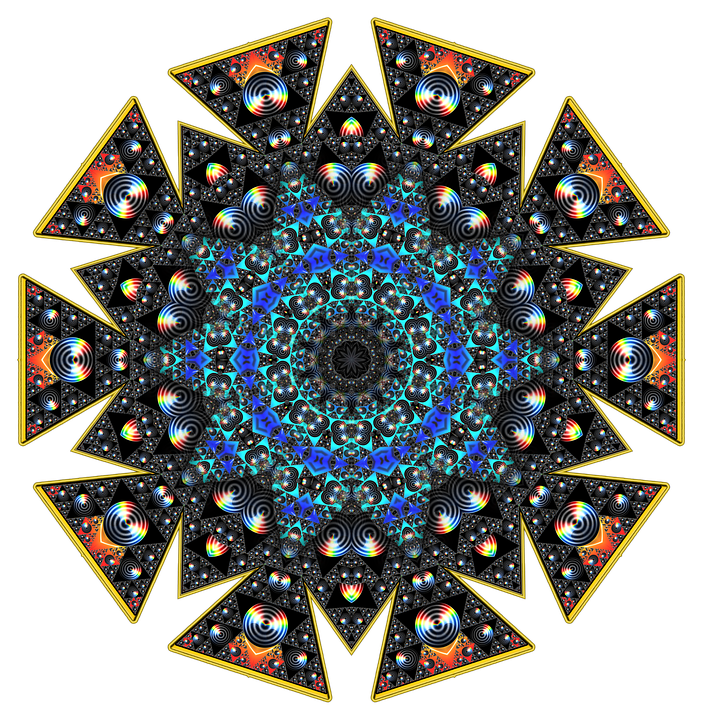 Fractal, Tile, Kaleidoscope, Design, Fantasy, Ornament