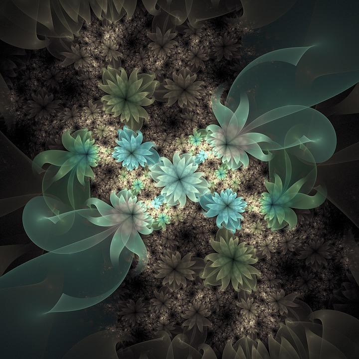Flower, Decoration, Floral, Fractals