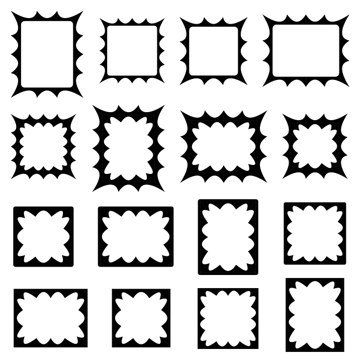 Border, Frame, Set, Collection, Vector, Shape, Black