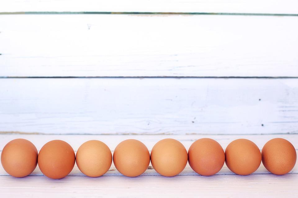 Brown Eggs, White Space, Border, Frame, Background
