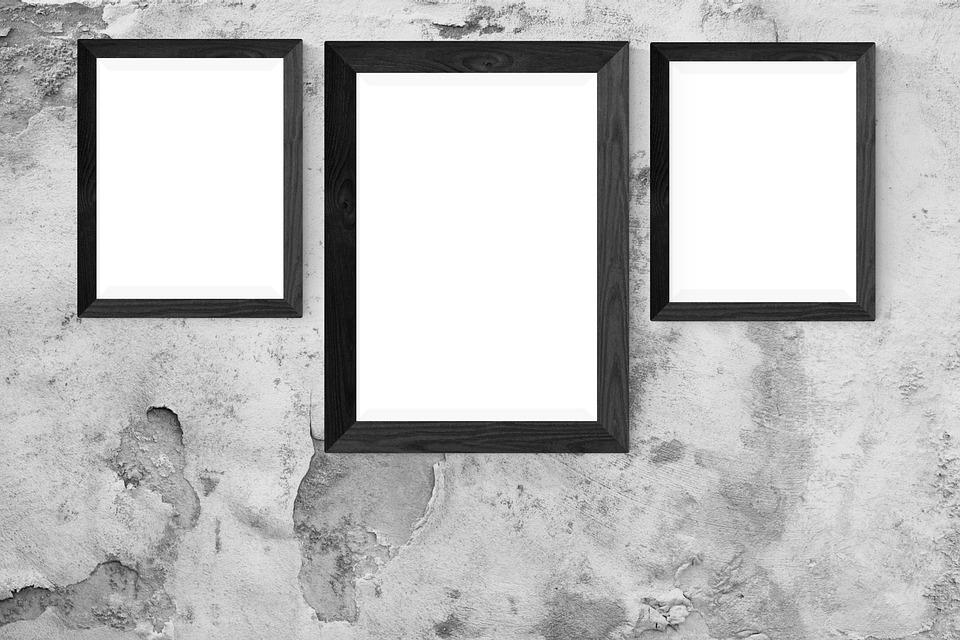Free photo Frame Gallery Interior Mock Wall Poster Mockup - Max Pixel