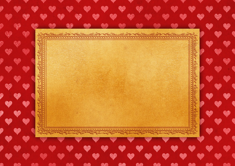 Frame, Heart, Paper, Background, Decorative, Invitation