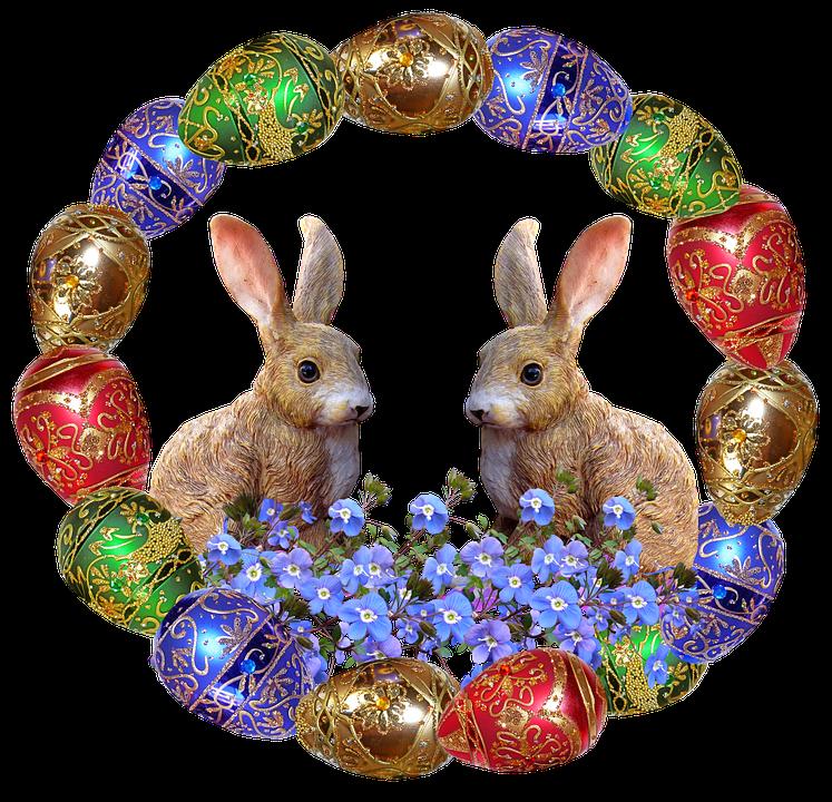 Free photo Frame Rabbits Easter Eggs Celebration - Max Pixel