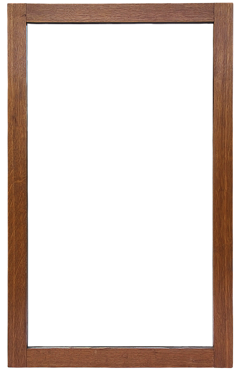 mirror frame frame mirror isolated wooden frame - Wooden Frame