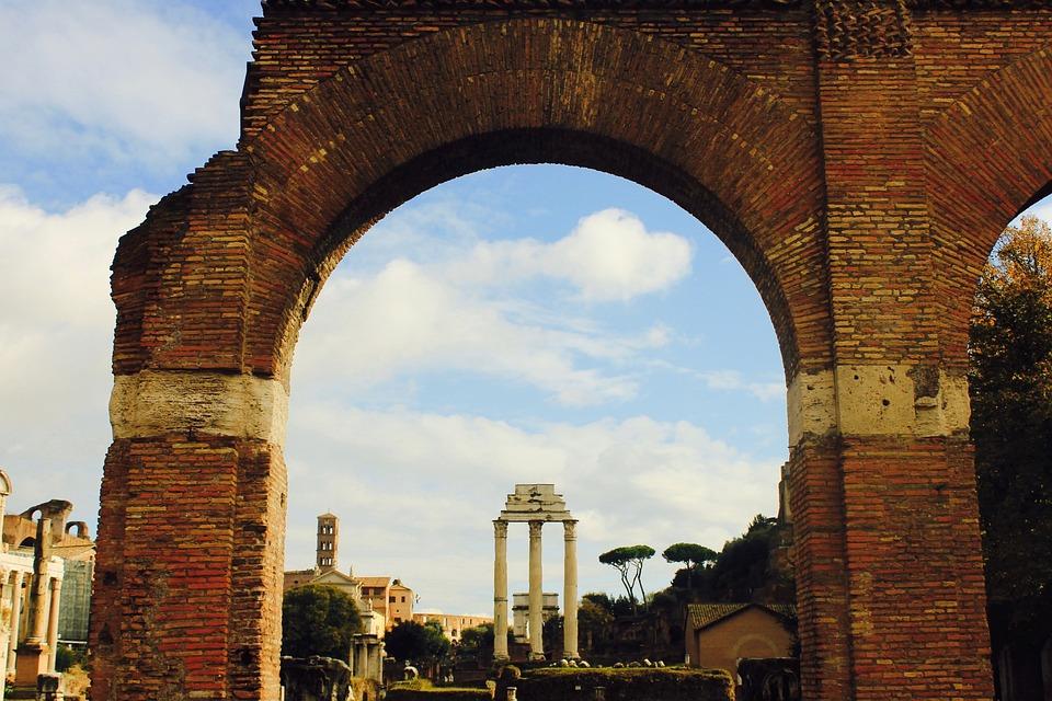 Roman, Ruins, Framing, Monument, Landmark, Archaeology