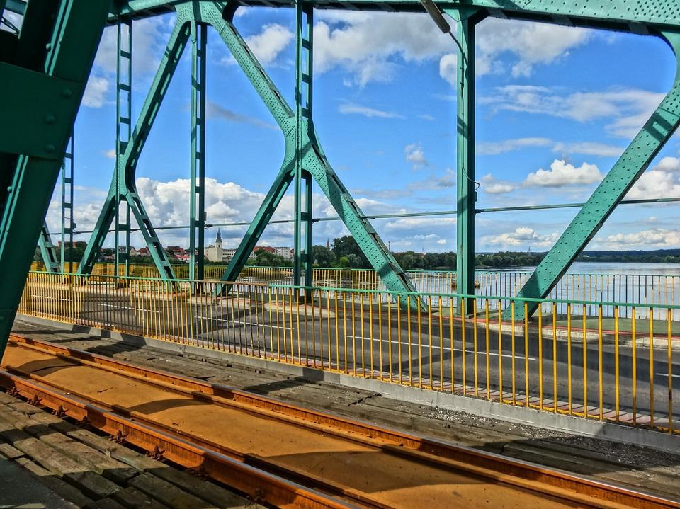 Most Fordonski, Bydgoszczy, Bridge, Framing, Crossing