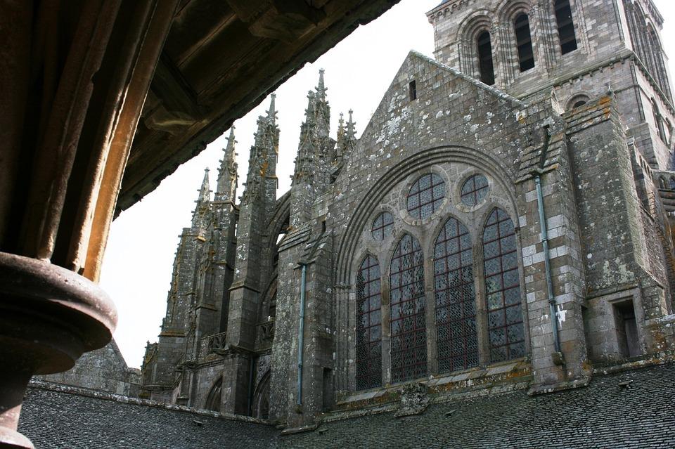Abbey, Mont Saint-michel, Normandy, France, Middle Ages