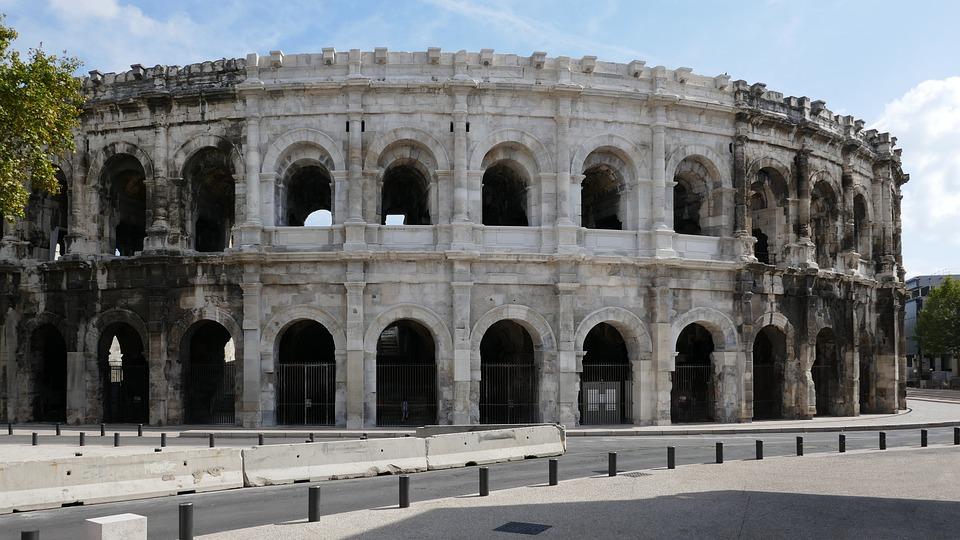 Amphitheatre, Nimes, France, Roman, Ancient, Arena
