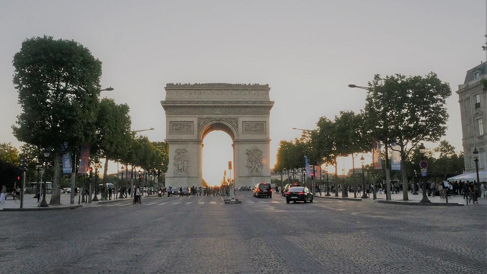 Place Charles De Gaul, Paris, Arch Of Triumph, France