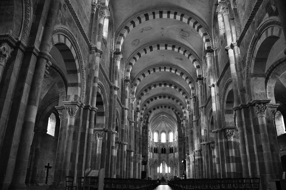 Architecture, Romanesque Art, Abbey, Religion, France