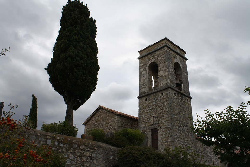 Ardèche, Church, France