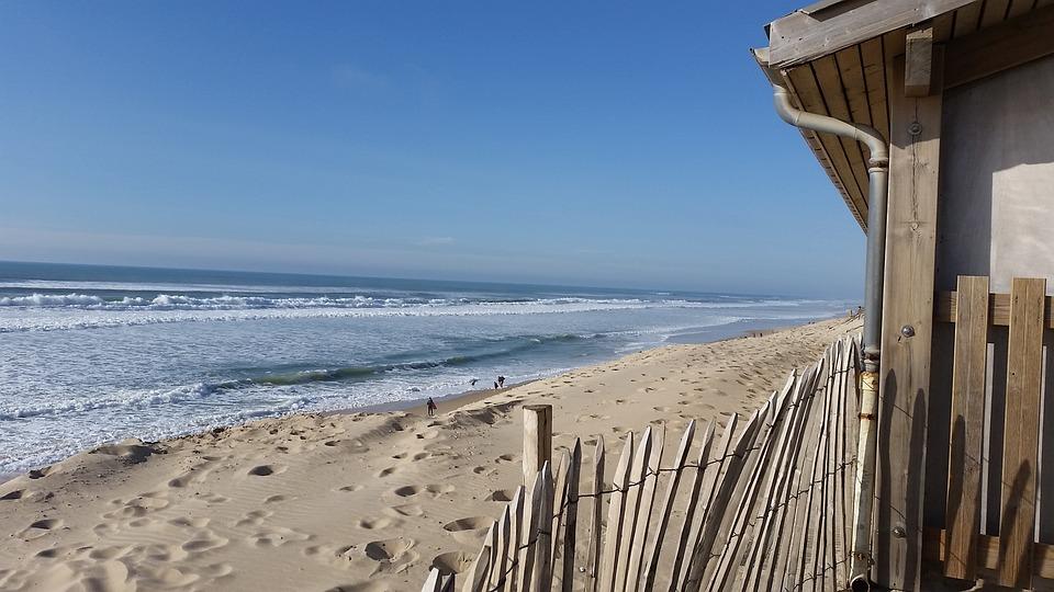 Sea, Ocean, Beach, France, Wave, Water, Landscape