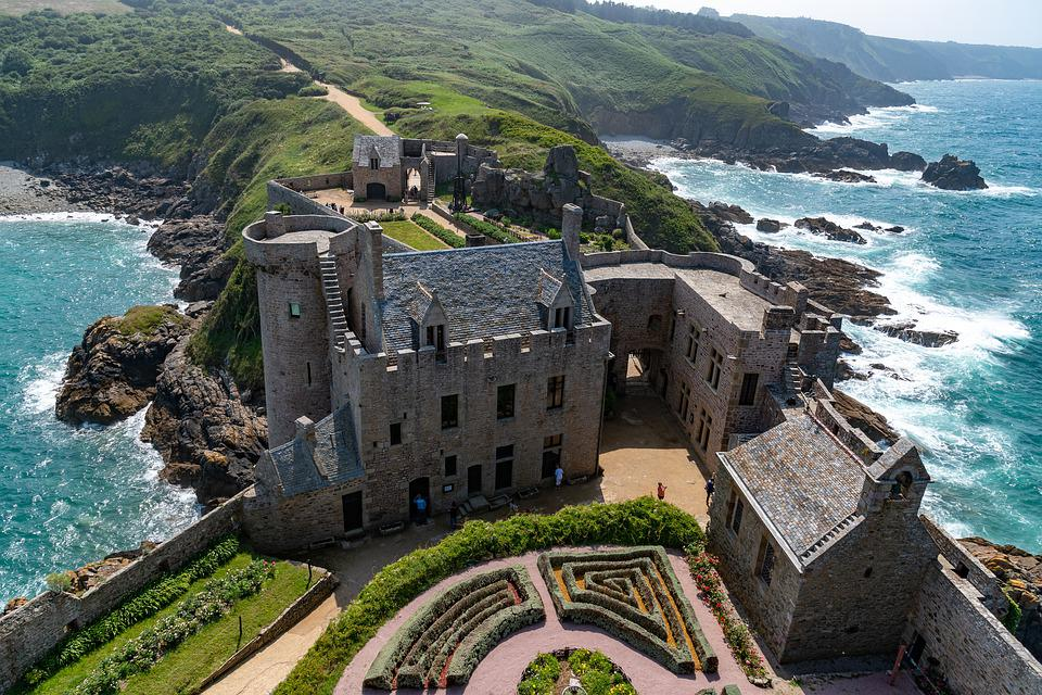 Brittany, France, Castle, Fort Lath, Ocean, Fortress