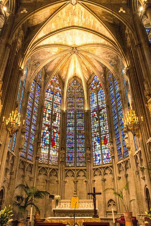 The Cathedral Of Saint Nazaire, Carcassonne, France